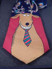 Hallmark Christmas Tie Reindeer Wearing Tie with Multi-Colored Lights in Antlers