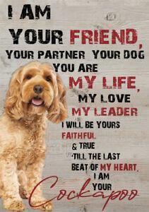 METAL COCKAPOO DOG SIGN DOG PRINT DOG METAL SIGN XMAS BIRTHDAY GIFT DOG POSTER