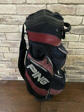 PING Traverse 14-Way Cart Golf Bag Black Crimson!