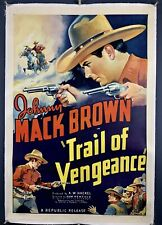 Flaming Frontiers 1938 Johnny Mack Brown Western movie poster 24x36 inches