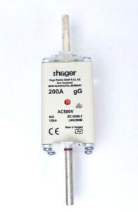 Hager LNH2200M QF3917 / NH-Sicherungseinsatz NH2C gG AC500V 200A Kombi-Melder