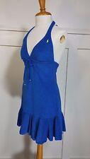 Polo Ralph Lauren Women's Small Blue Terry Cover-Up Mini Dress Swim Beach Logo