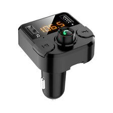 Bluetooth 5.0 fm transmitter handsfree car kit adapter radio Wireless Mp3 2 Usb