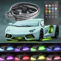 4pc/set RGB 8 Color LED Car Remote Control Underglow Underbody System Lights Kit
