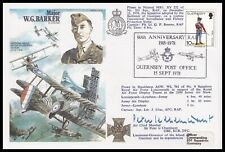 ACM SIR PETER LE CHEMINANT GBE KCB DFC Signed Major W.G. Barker VC RAF Cover
