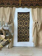 Antique Portuguese 18th Century brocade applique metallic embroidery textile