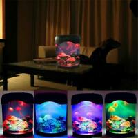 Jellyfish Tank Led Light Mood Night Lamp Decorations Realistic Ocean Backgrounds