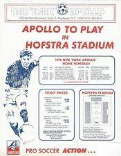1976 New York Apollo ASL Soccer Press Release & Flyers (8) - NASL #FWIL
