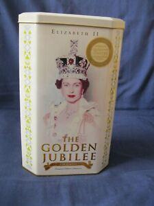 Elizabeth II Golden Jubilee souvenir video EMPTY TIN 22x14x10cm storage