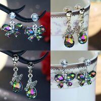 Charm Crystal Zircon Insect Butterfly Bee Stud Earrings Jewelry Drop Dangle Gift