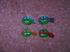 PINS TORTUES NINJA TURTLES  SET COMPLET 4 PINS OFFICIAL MIRAGE TBEG