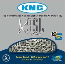 KMC X9SL Silver 9 Speed Road or Mountain Bike Chain KMCX9SLS