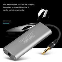 Mini 3.5mm Auricular Amplificador Hifi Estéreo Audio Amperio para Teléfono Móvil