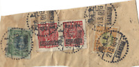 1948 SHANGHAI CHINA SON CANCELS PIECE WITH $80,000 IN STAMPS, WITH 2 OVPT SYS