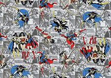 Fat Quarter DC Comics Heroines 100% Cotton Quilting Fabric Wonder Bat Super