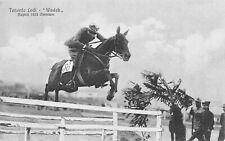 A880) IPPICA, CAVALLERIA, OMNIUN 1923 NAPOLI IL TENENTE LODI SU WADEK.