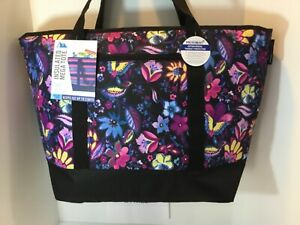 California Innovations Artic Zone Purple Insulated Tote Bag XXL Hot Frozen Food