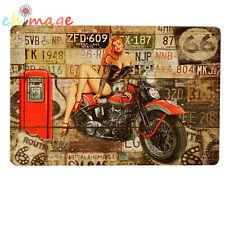 Garage Sexy Lady Motor VINTAGE  Tin Sign Bar pub Wall Decor Retro Metal Poster