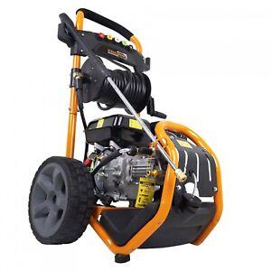 Hochdruckreiniger 220 bar - 7 PS Motor Dampfstrahler Benzin Reinigungsmaschine