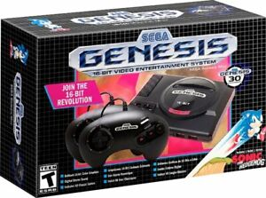 SEGA GENESIS MINI CONSOLE Bundle 40 Preloaded Games & 2 Controllers 16 BIT HDMI