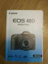canon EOS 40d Bedienungsanleitung Gebrauchsanleitung Manual Camera Foto