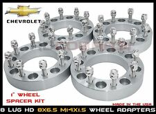 "8x6.5 Wheel Adapters 1"" Fits Chevy & GMC 8 Lug Heavy Duty Wheel Spacers"