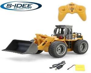 s-idee® S1520 Rc Radlader Bagger 1:18 2,4 GHz schwenkbare Schaufel