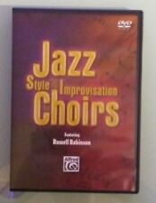 russell robinson  JAZZ STYLE AND IMPROVISATION FOR CHOIRS    DVD