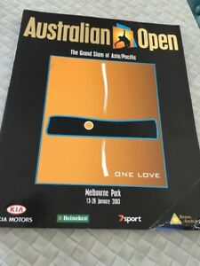 Australian Open Tennis Program 2003 SIGNED Melbourne Park