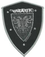 UNEARTH shield 2008 shaped WOVEN SEW ON PATCH official no longer made RARE