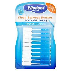 Wisdom Clean Between Interdental Brushes Blue Fine (20 per pack)