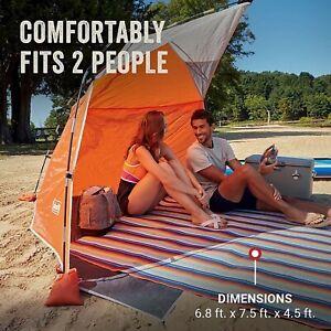 Nylon Orange Coleman Skyshade with Pocket Compact Beach Shade 4lb Easy Carry Bag