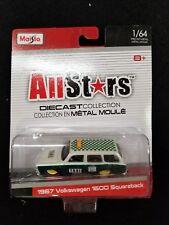 Maisto All Stars 1:64 1967 Volkswagen 1600 Squareback, PEARL/GREEN/TAXI/MOC, (G9