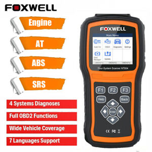 FOXWELL NT604 Car OBD2 Scanner ABS SRS Engine Code Reader Diagnostic Scan Tool