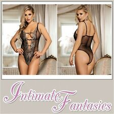 Sexy Halter Teddy With Lace Embroidery Basque Burlesque Lingerie Size 8 10 12