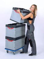 Faltbox Auer 2er Set Stapelkiste Kunststoffbehälter Klappbox Behälter 60x40x42cm