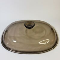 """Magnawave Perfection Oval Glass Amber Roaster Lid 12.75"""" x 9.5"""" Lid Only"""