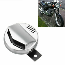 Motorcycle Electric Horn Chrome Super Loud 110db 94mm 12V 2A Cafe Racer Retro