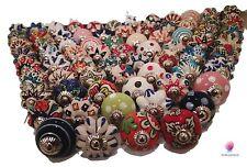 Ceramic Knobs Door 20Pcs Assorted Multicolor Vintage Look Flower Handle Cabinet