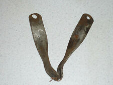 Vintage Triumph pre-unit s/arm exhaust pipe/ silencer to frame tube brackets.