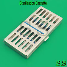 Dental Sterilization Cassette, Autoclave Tray, Rack, Box, 7-Instruments 'Blue'