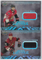 17-18 UD Black Christian Fischer Jersey Lustrous Rookie Coyotes Rookies 2017