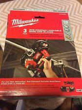 Milwaukee Sub Compact Portable Band Saw Blades 3 Pc 48 39 0572