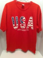 USA Made In America 2016 Graphic T-Shirt Mens Red Size Large
