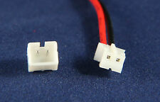 Micro JST 1.25 2-Pin Male Battery Connector Plug Wires and Female Plug 20 Sets