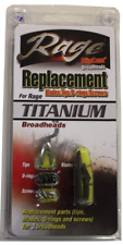 Rage Titanium Replacement Blades with O-Rings, Tips, Screws (6 - Blades ) R35005