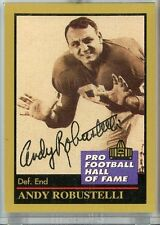 Andy Robustelli Giants Autograph 1991 Pro Football Hall of Fame HOF