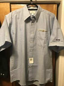 CHRYSLER JEEP Embroidered DEALER FACTORY Enro US MADE Button Down SHIRT XL