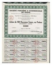 ACTION  100 FR SOCIETE FONCIERE & COMMERCIALE DU GOLFE 1960
