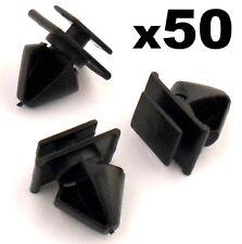 50x Peugeot 406 Plastique Clips Garniture pour porte Moulure Côté / Pare Choc
